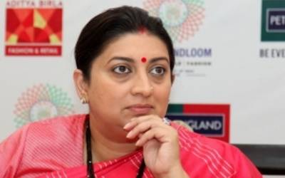 Irani announces carpet, hosiery clusters for Haryana