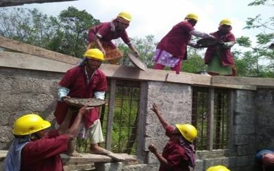 Breaking the glass ceiling in a male world: How an all-women construction group built a Kerala house