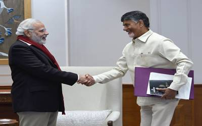 Amid strain, Naidu asks Modi to provide money to Andhra