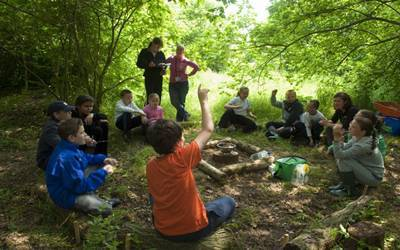 A lesson in the woods may boost kids' learning