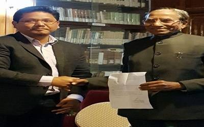 Conrad Sangma takes charge of Meghalaya as CM