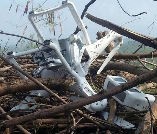 Pakistani Drone Shot Down