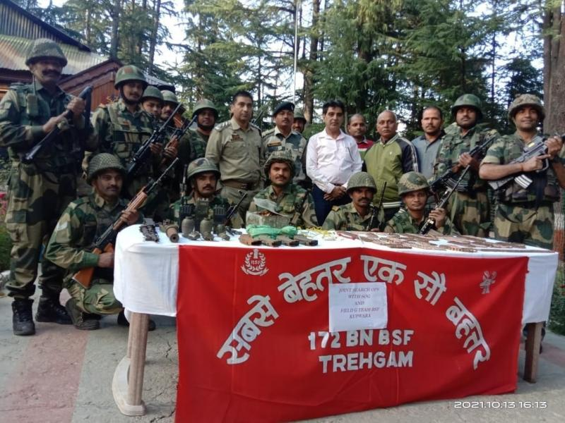 Cache of arms, ammunition recovered in Kashmir district