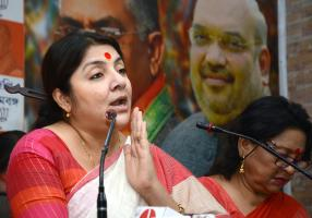 Is Locket Chatterjee now on way to Trinamool Congress?